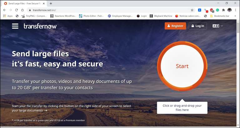 TRANSFERNOW: SEND HEAVY DOCUMENTS, PHOTOS, AND VIDEOS UP TO 4GB PER TRANSFER