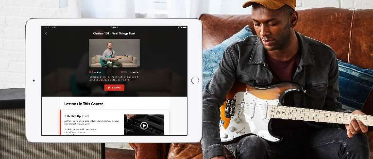 Fender play to learn to play guitar