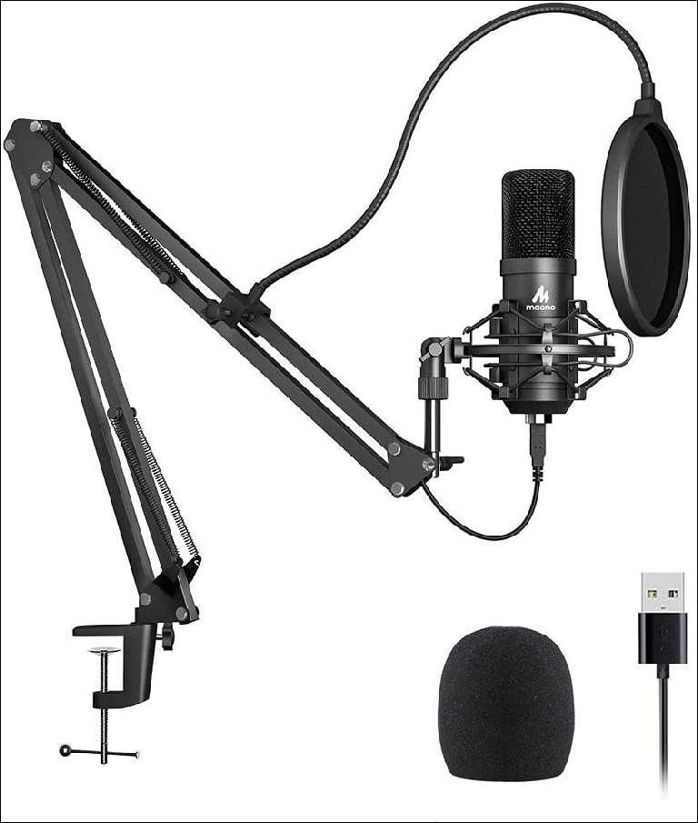 USB Cardioid condenser microphone kit