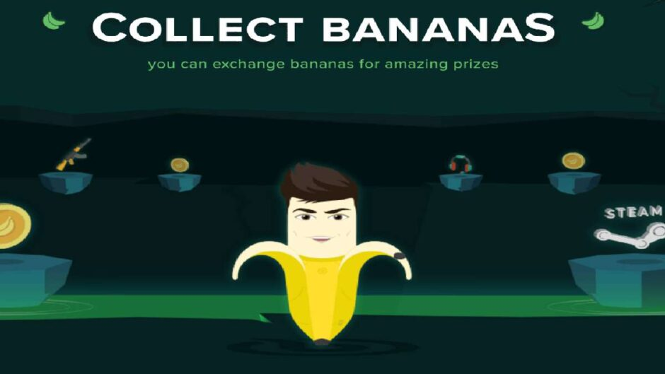 Money With Bananatic collecting Bananas