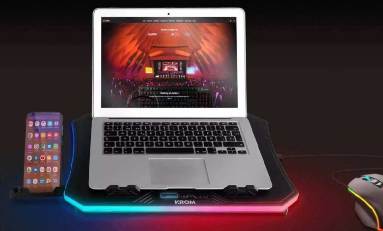 Kooler RGB Laptop Cooling Base Keeps Your Notebook Cool And Stylish