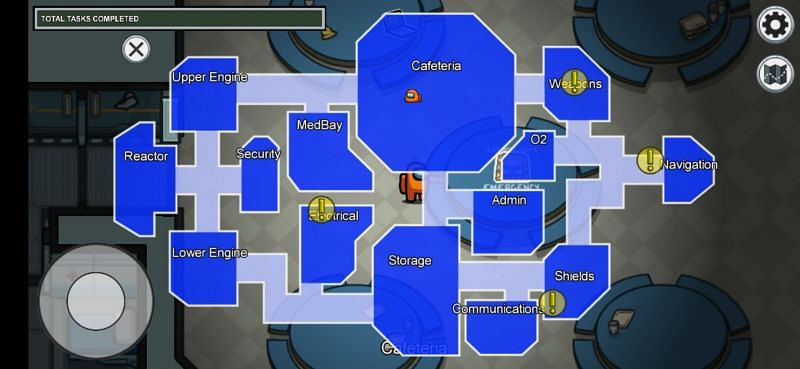 The Skeld Map - Among Us