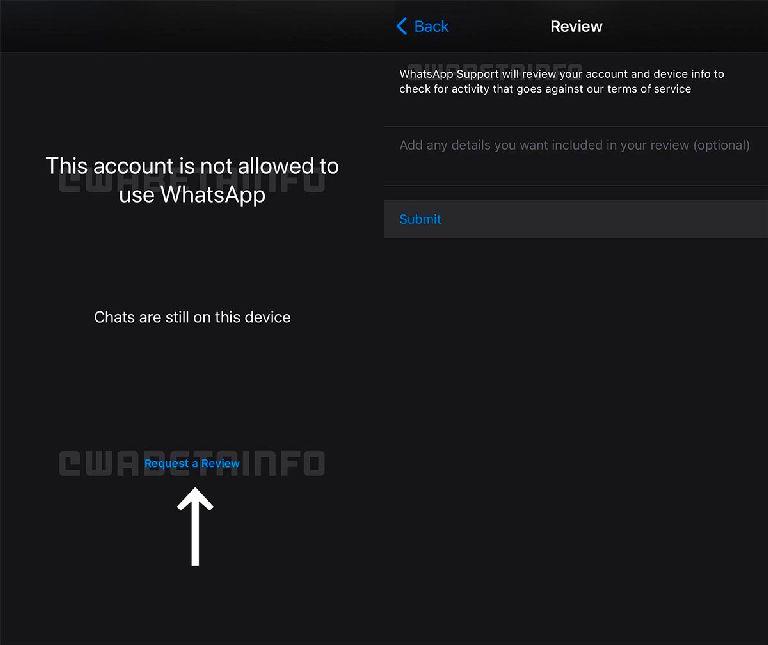 Claim Your Blocked Account On Whatsapp