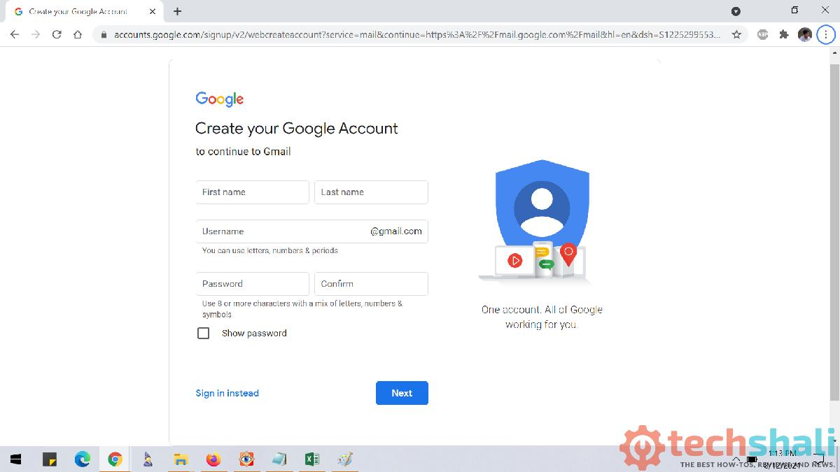 Create an account and sign in to Gmail