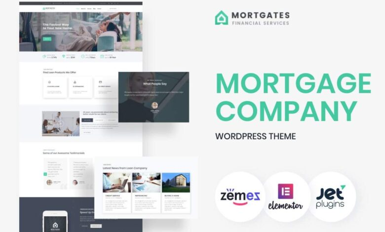 Mortgage WordPress Themes from TemplateMonster Developed Specifically for Mortgage Brokers