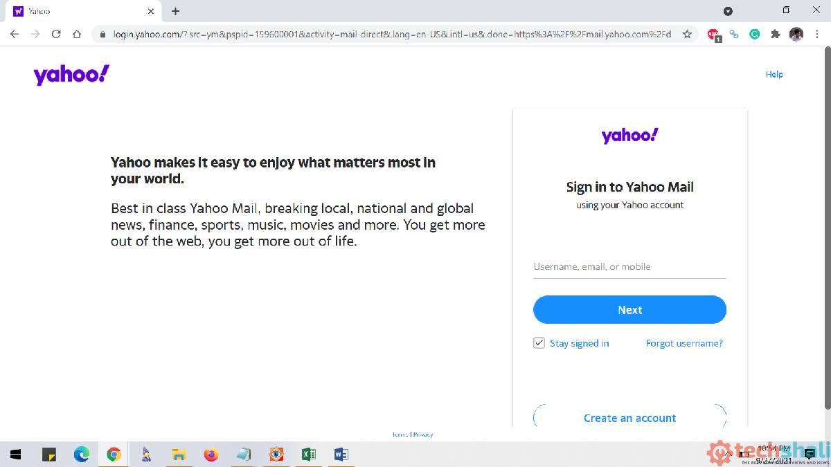 Yahoo.com log in - Yahoo mail login page